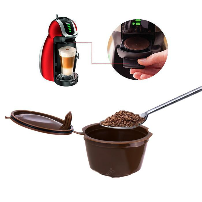 Refillable Coffee Capsule - DEEP BROWN 5PCS