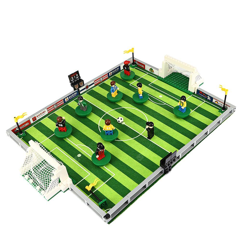 3D Football Field Mini Action Figure Model Building Blocks