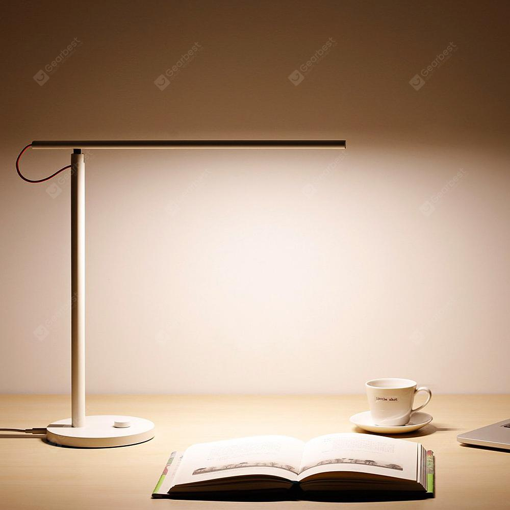 Gearbest Xiaomi Mijia Yeelight MJTD01YL Smart LED Desk Lamp - WHITE WiFi Enabled 4 Scene Modes Dimmable CCT Adjustable Work with Amazon Alexa IFTTT
