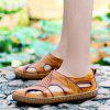 Casual Leather Sandals for Men - SCHOOL BUS YELLOW