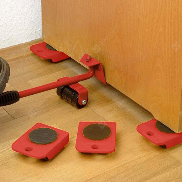 HESSION Furniture Lifter Sliders Set of 5 - RED
