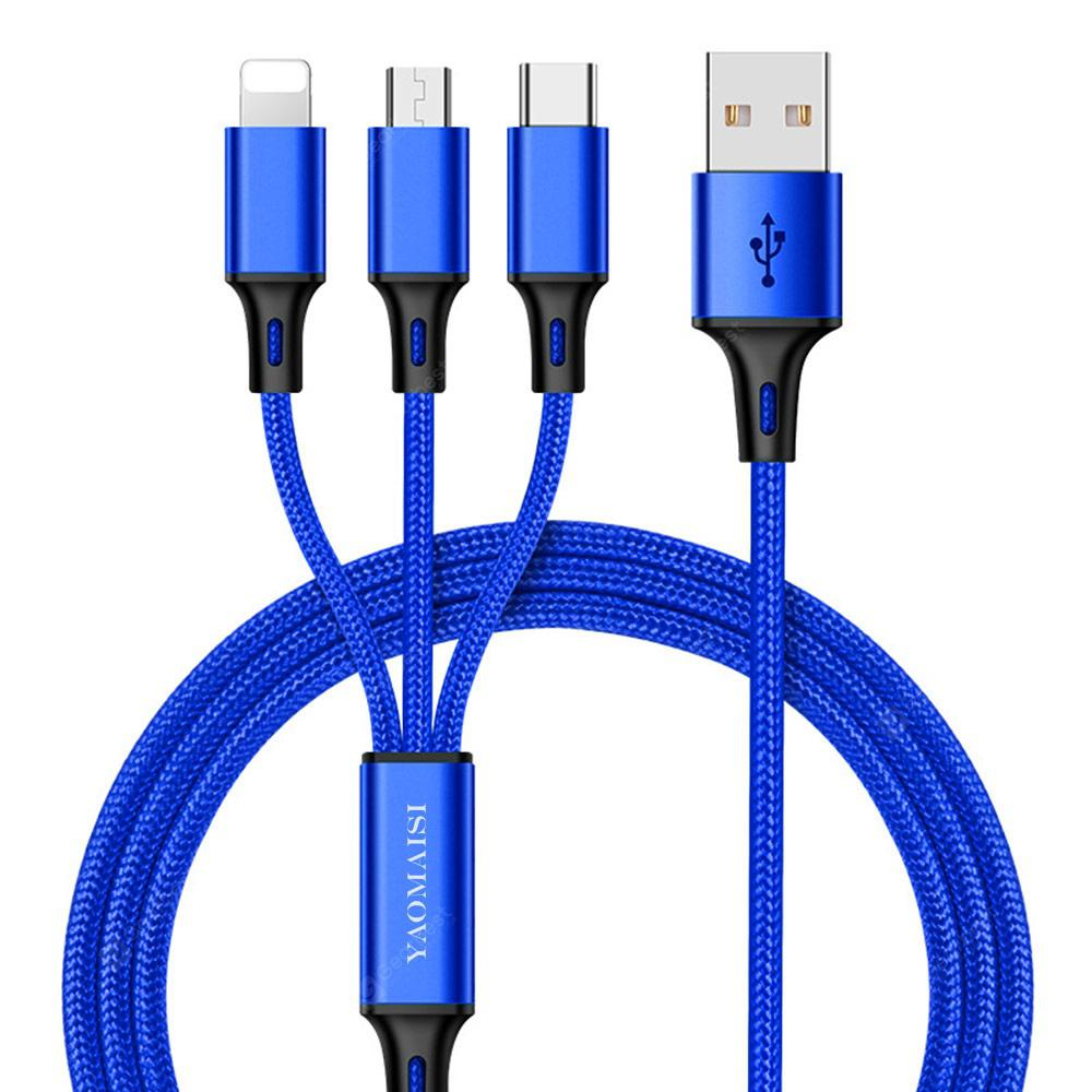 YAOMAISI 8 Pin / Type-C / Micro USB Charging Cable