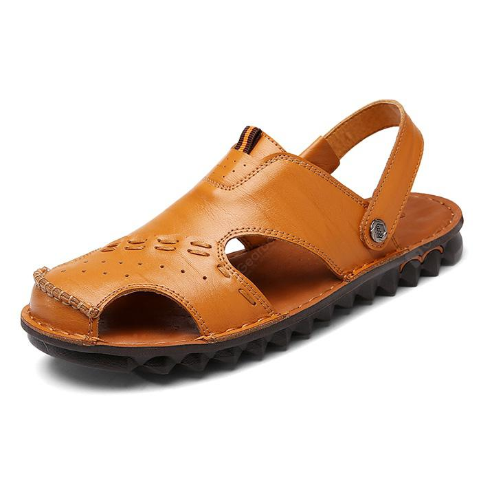 Fashion Summer Dual-use Hollow-out Leather Sandals