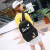 Female Cute Nylon Large Capacity Backpack - BLACK