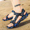 Men Fashion Summer Hollow-out Camouflage Sandals - LAPIS BLUE