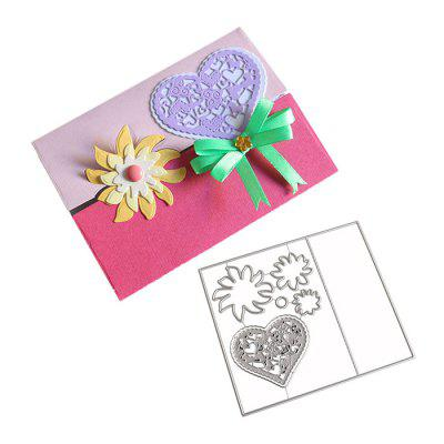 DIY Love Heart Envelope Pattern Embossing Cutting Dies brooklyn bridge landmark building 3d pop up greeting card laser cutting dies envelope hollow carved handmade kirigami gifts