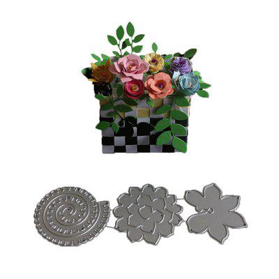 DIY 3D Flower Pattern Embossing Cutting Dies brooklyn bridge landmark building 3d pop up greeting card laser cutting dies envelope hollow carved handmade kirigami gifts