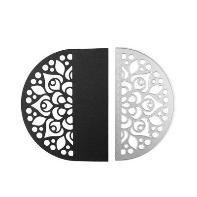 Semicircular Shape Metal Cutting Die for Card Gift non standard die cut plastic combo cards die cut greeting card one big card with 3 mini key tag card
