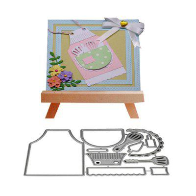 Kitchen Tool Metal Cutting Die Set for Card Gift non standard die cut plastic combo cards die cut greeting card one big card with 3 mini key tag card