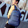 Fashionable Nylon Laptop Backpack for Men - NAVY BLUE