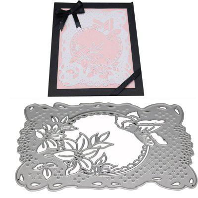 Flower Metal Cutting Die Set for DIY Card Gift non standard die cut plastic combo cards die cut greeting card one big card with 3 mini key tag card