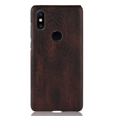 Luanke PC Wood Texture PU Leather Paste Protective Case
