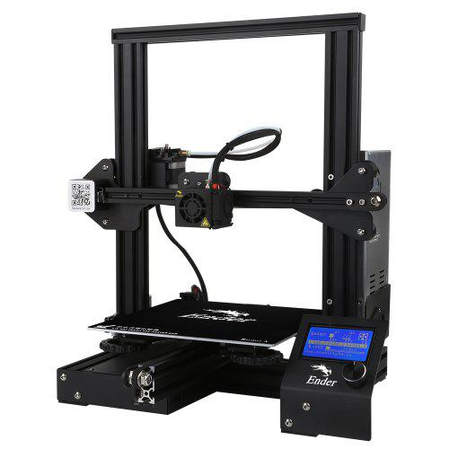 Creality3D Ender-3 V-slot Prusa I3 DIY 3D Printer Kit 220x220x250mm Printing Size With MK10 Extruder 1.75mm 0.4mm Nozzle EU Plug