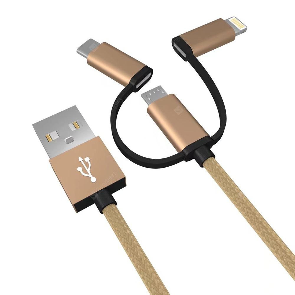 Micro USB / Type-C / 8 Pin Data Transmission Charging Cable