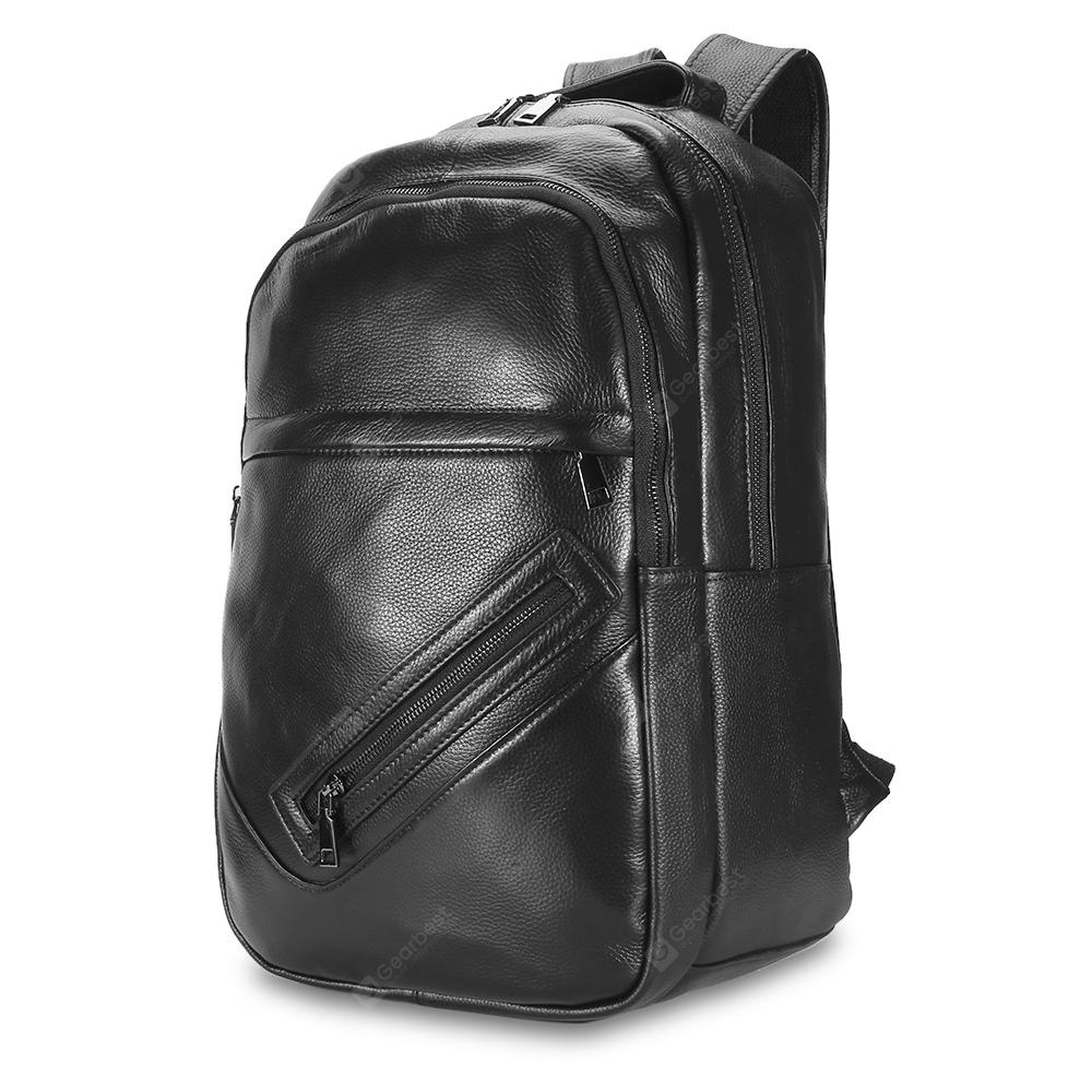 Male Classic Microfiber Leather Backpack