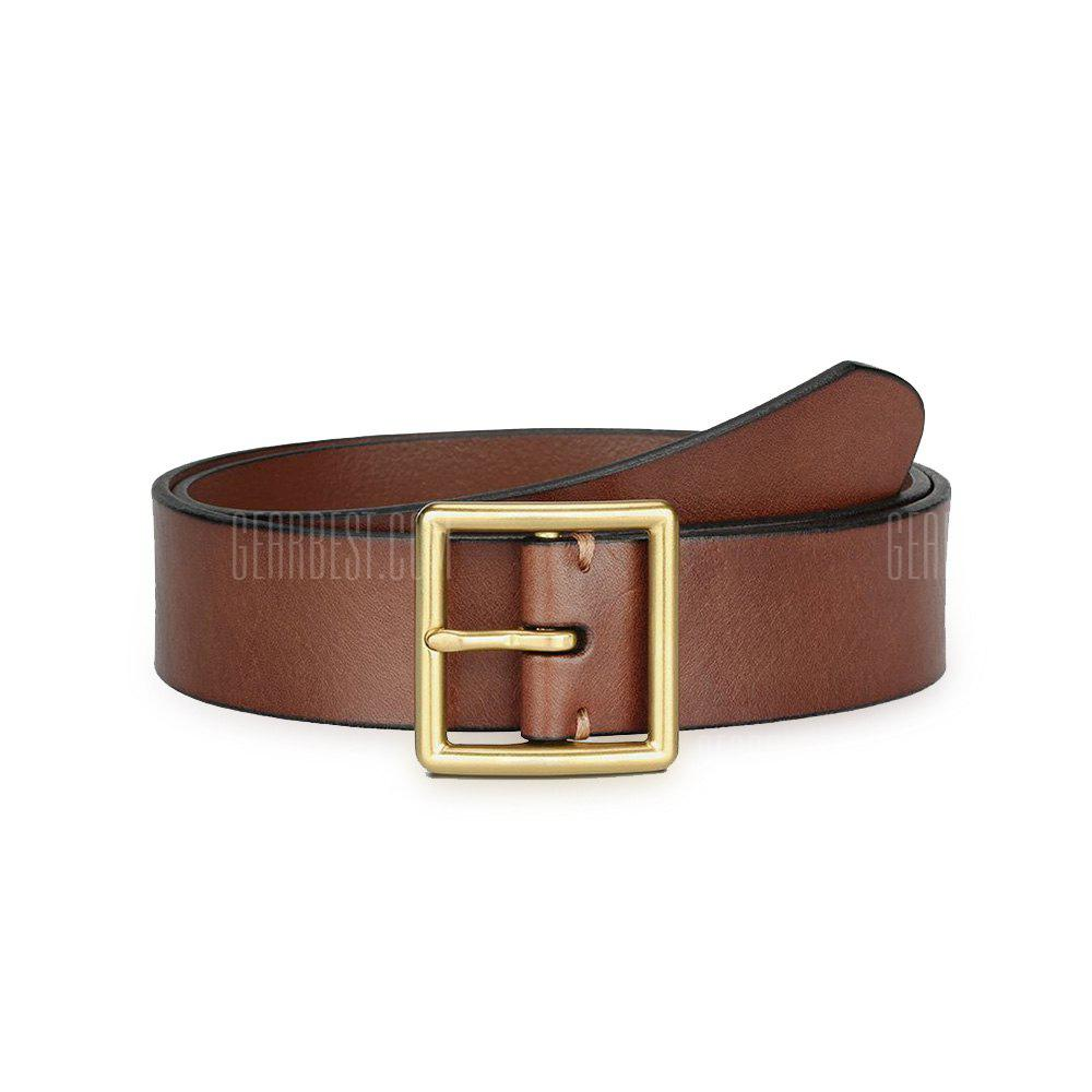 Xiaomi Men Brass Buckle Handcrafted Leather Belt