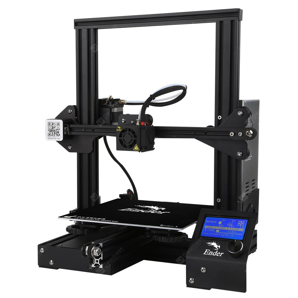 Creality 3D Ender-3 V-slot Prusa I3 DIY 3D Printer Kit 220 x 220 x 250mm Printing Size
