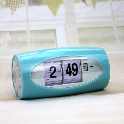 Automatic Turning Page Digital Alarm Clock dog shaped retro digital flip page gear clock 1 x d battery