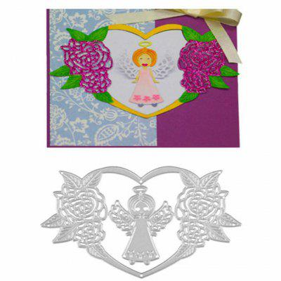1803185 Adorable Angel Design Metal Cutting Dies for Greeting Card Cover Photo Album 2017 new honey bee silicone stamp cutting dies stencil frame for diy scrapbook album decor