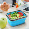 zanmini ZBOX01 Folding Silicone Food Storage Container - BLUE