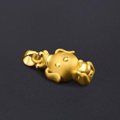 Xiaomi Youpin Cute Dog Pure Gold Pendant Necklace