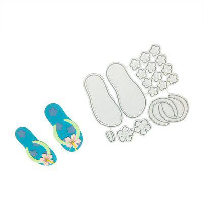 DIY Creative Slippers Pattern Cutting Die exquisite diy greeting card cover cutting die
