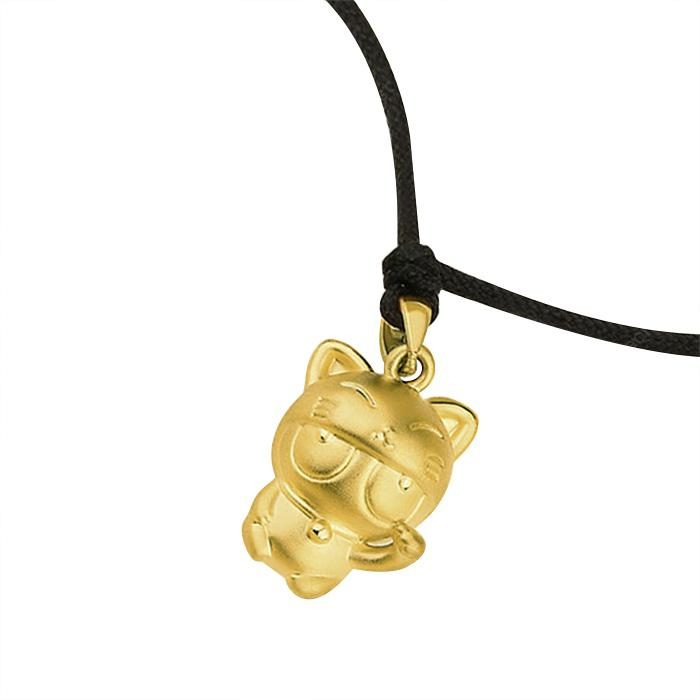 ChinaBestPrices - Xiaomi Cute Cat Pure Gold Pendant Necklace