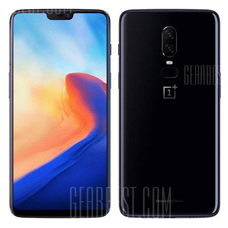 OnePlus 6 4G Phablet 6GB RAM International Version - MIRROR BLACK 6+64GO