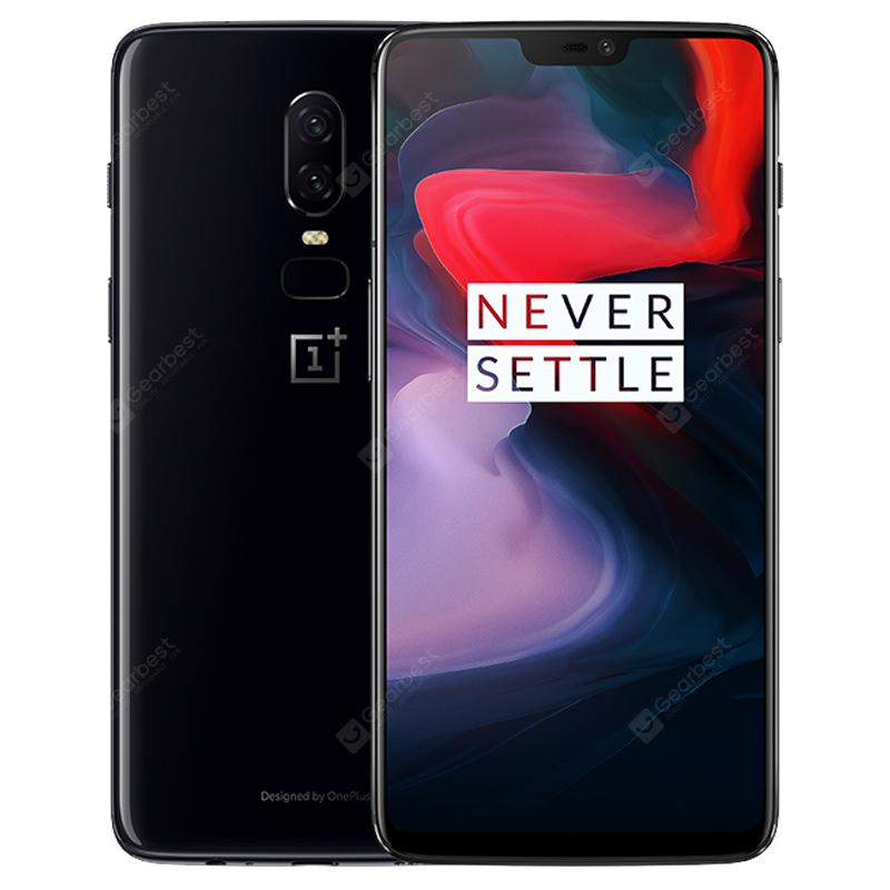 OnePlus 6 4G Phablet 6GB RAM English and Chinese Version - BLACK  8+128GO