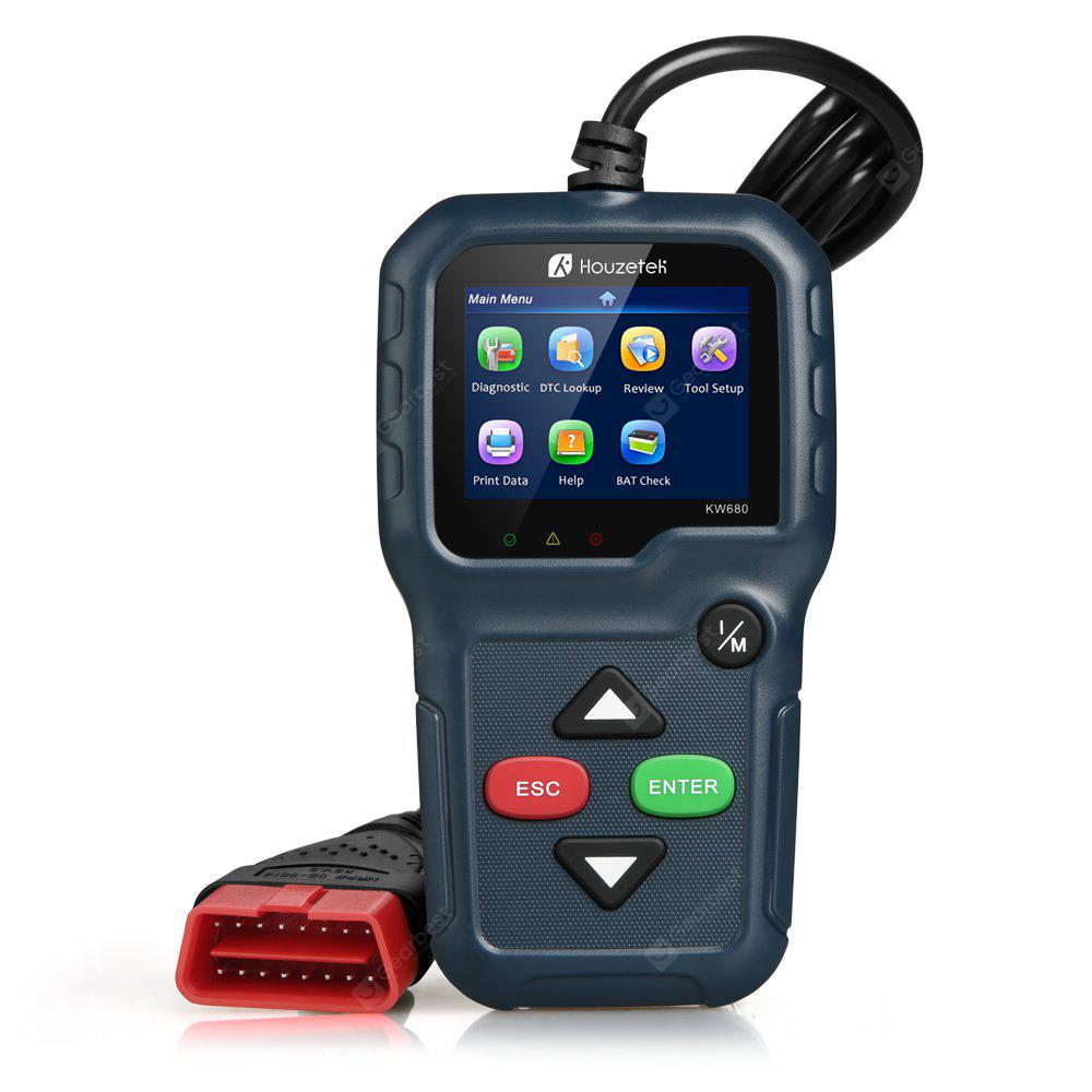 Houzetek KW680 CAN OBDII Diagnostic Tool MARBLE BLUE