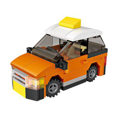 LOZ Building Blocks Mini Taxi Model Intelligence Toy Gift in stock lepin 18008 my world series village zombie model building blocks bricks model toys for children gift compatible 21128