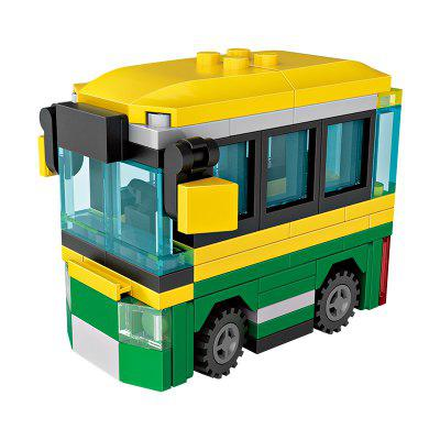 LOZ Building Blocks Mini Bus Model Intelligence Toy Gift in stock lepin 18008 my world series village zombie model building blocks bricks model toys for children gift compatible 21128