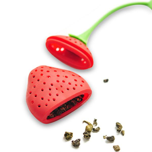 Cute Strawberry Silicone Tea Infuser - RED