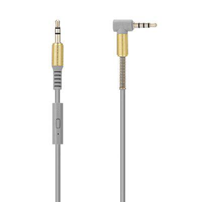 Male to Male Mic Wire Control 3.5mm Audio Cable