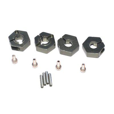 LRP 122503 Metal Aluminum 12mm Wheel Hex Nut 4pcs