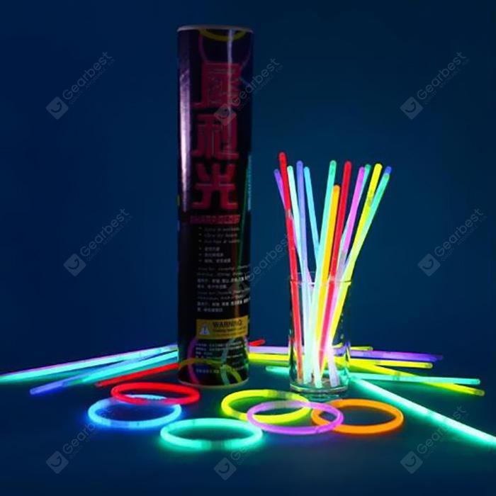 Luminous Fluorescent Glow Light Stick 100pcs - MULTI