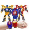 Multifunctional Children Electronic Deformation Robot Watch - BLUE