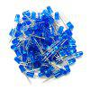 5mm Blue Strawhat Type Light LED Light Emitting Diode 100pcs - SAPPHIRE BLUE