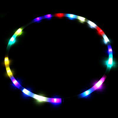 DIY Colorful LED Light Flash Fitness Hoop Sports Equipment