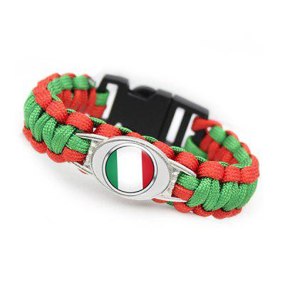 Multifunctional Flag Pattern Emergency Survival Bracelet