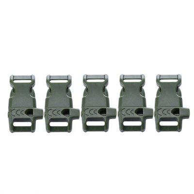 Outdoor Survival Compact Whistle Buckle 5PCS