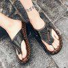 Men Trendy Summer Anti-slip Flip-flops Slippers - BLACK