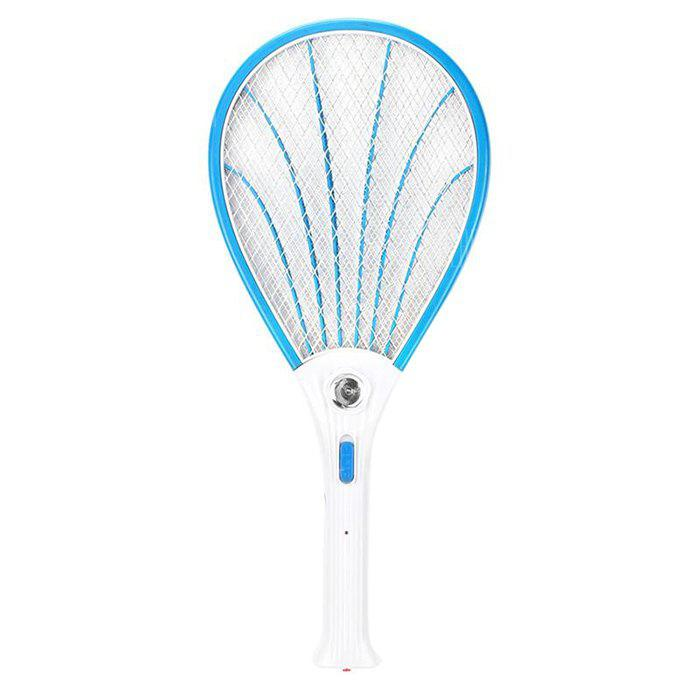 Rechargeable Mosquito Swatter with LED Lamp - BLUE