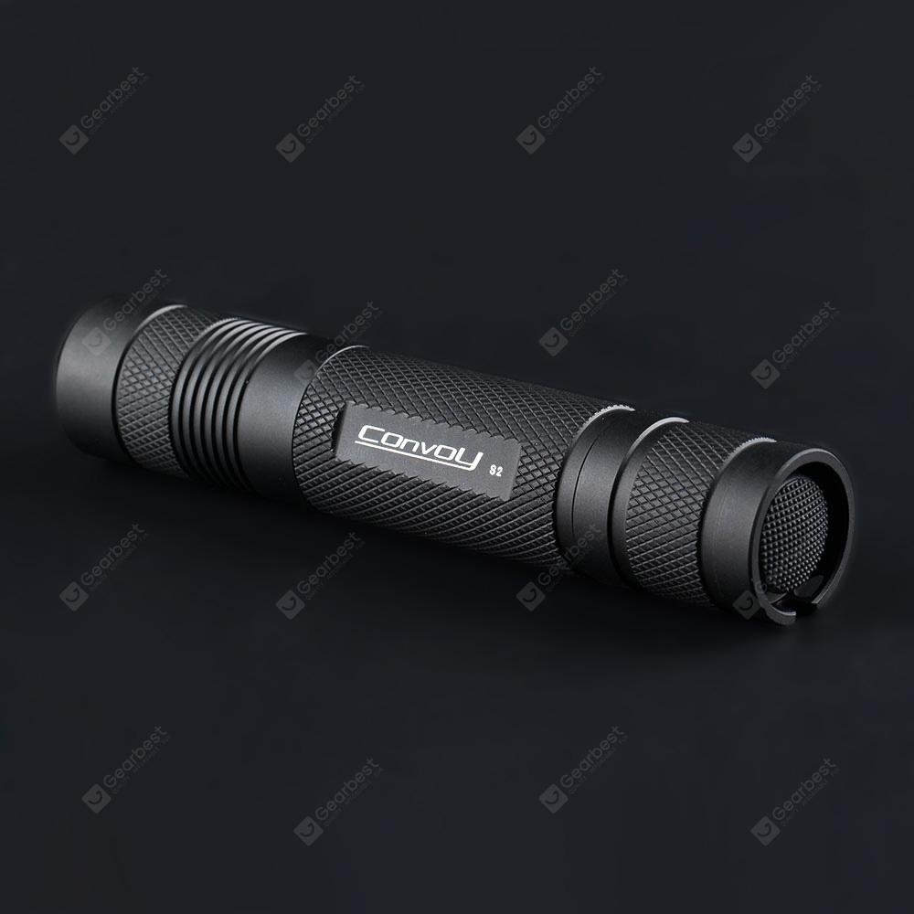 Convoy S2 365nm LED UV Flashlight - BLACK
