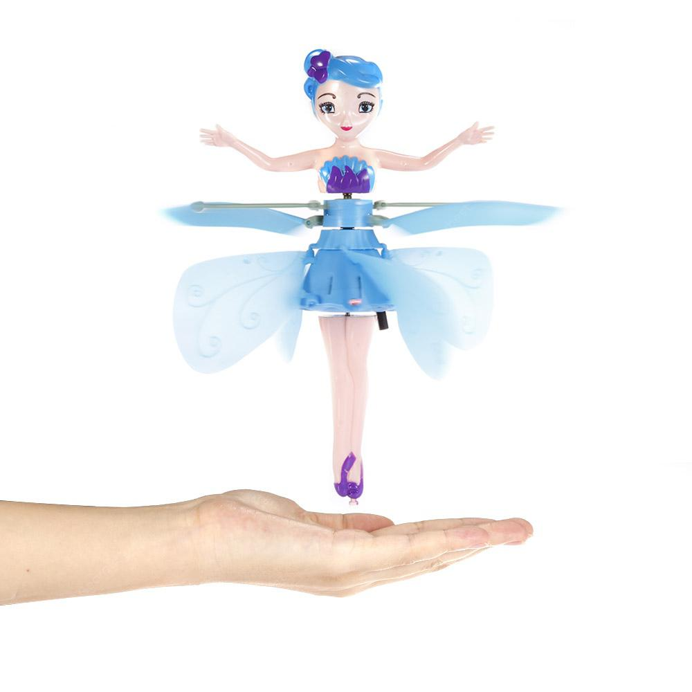 Flying Fairy Induction Suspension Infrared Sensor RC Toy - DEEP SKY BLUE