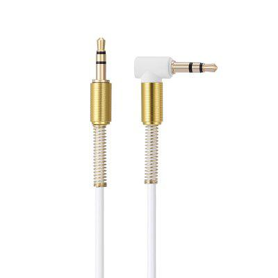 3.5mm Male to Male Metal Spring Head Audio Cable