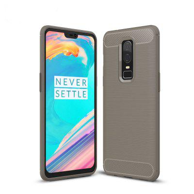 Luanke TPU Carbon Fiber Line Pattern Case for OnePlus 6