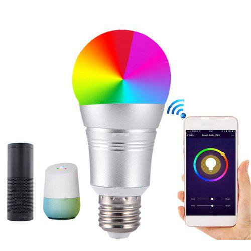Gearbest Creative Wireless Remote Control Smart WiFi Bulb - SILVER Support Google Home / Amazon Echo