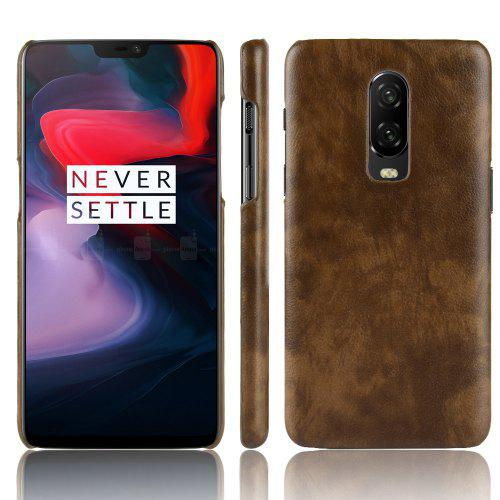 Luanke Lychee Grain PU Leather PC Case for OnePlus 6