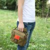 Casual Convenient Men Shoulder Bag - OAK BROWN